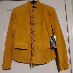 NWT Suede Leather Fringe Jacket